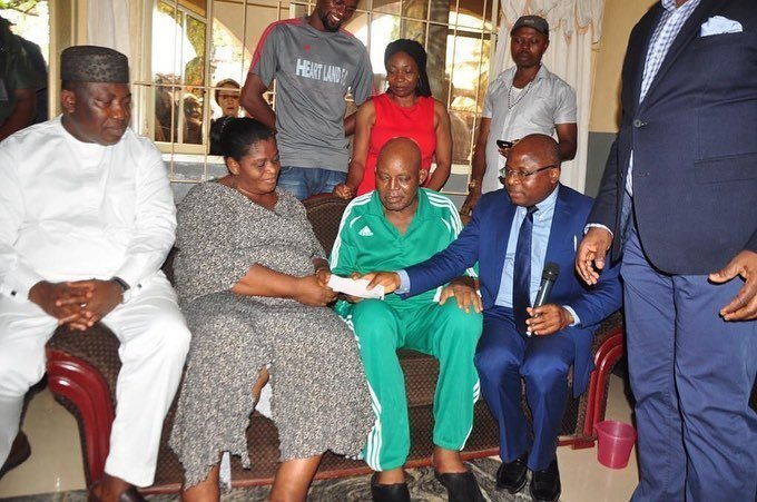Otedola presents N18m cheque for Christian Chukwu's treatment