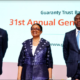 GTBank AGM 2021, Segun Agbaje, Managing Director/CEO, Guaranty Trust Bank Plc, Mr. Segun Agbaje, Osaretin Demuren and Company Secretary, Mr. Erhi Obebeduo