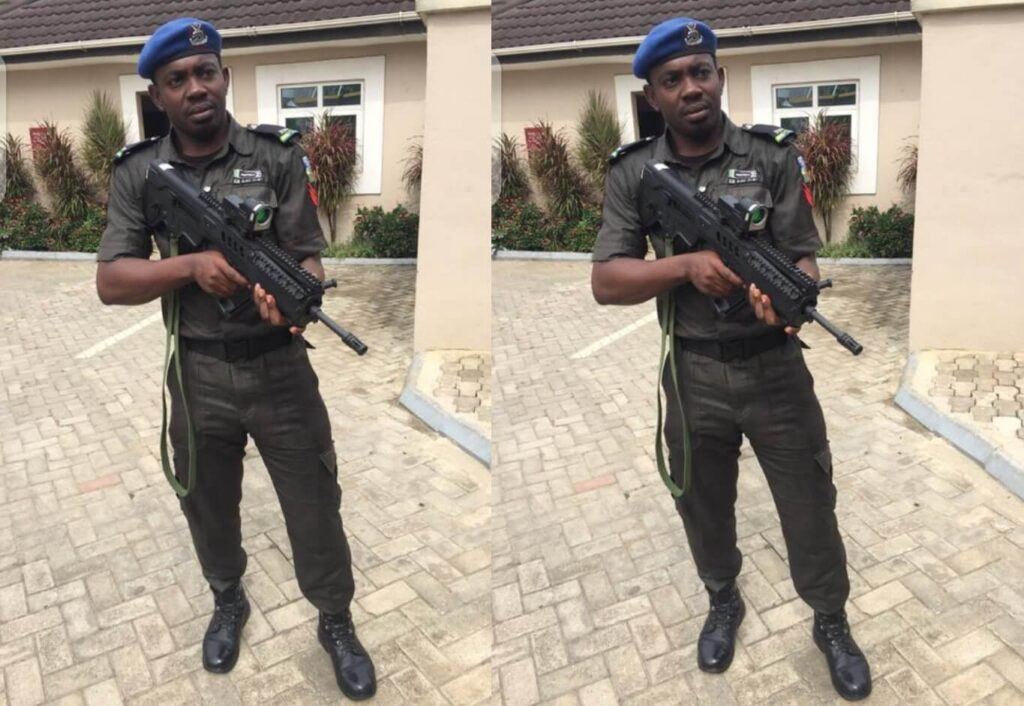 Sgt. Eze Aiwansoba the now dismissed Police Officer who shot his girlfriend in the mouth