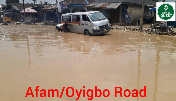 Oyigbo - Afam Road's Deplorable State, Govt. turns blind eye